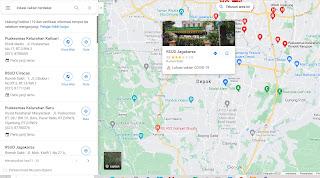 mencari lokasi vaksin terdekat pada google maps