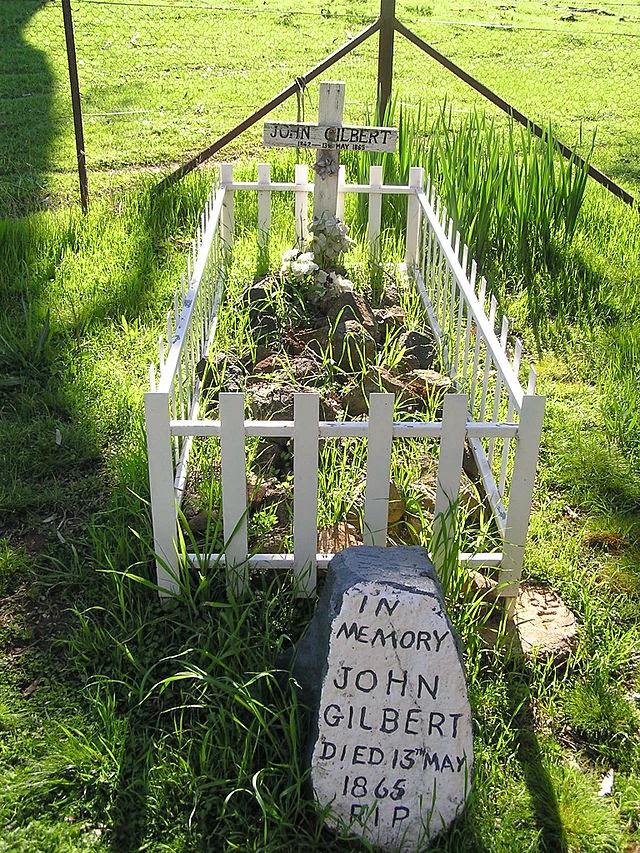 Bushranger John Gilbert's grave