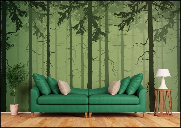 Dark Forest wallpaper mural  woodland forest theme bedroom ideas - forest fairies decor - woodland fairy room decor -  woodland murals  - woodland animal decorations - forest animals - fairy woodland bedrooms - snow white themed bedroom decorating ideas - magical woodland fairy forest theme bedrooms - Forest themed bedding -  Toddler Teddy Bear Beds - Teddy Bear Headboards - toddler woodland bedroom