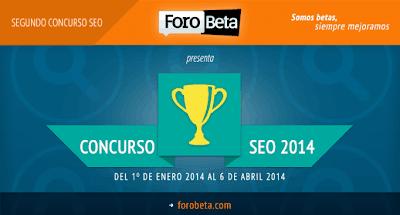 Concurso SEO de ForoBeta 2014 - Seovolución