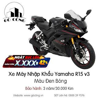 Bảng Gía Xe Máy Nhập Khẩu Yamaha R15 v3 - Đen bóng Mới Nhất Tháng 12/2020