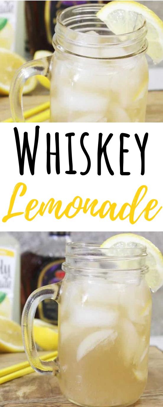 Easy Whiskey Lemonade #summer #drinks