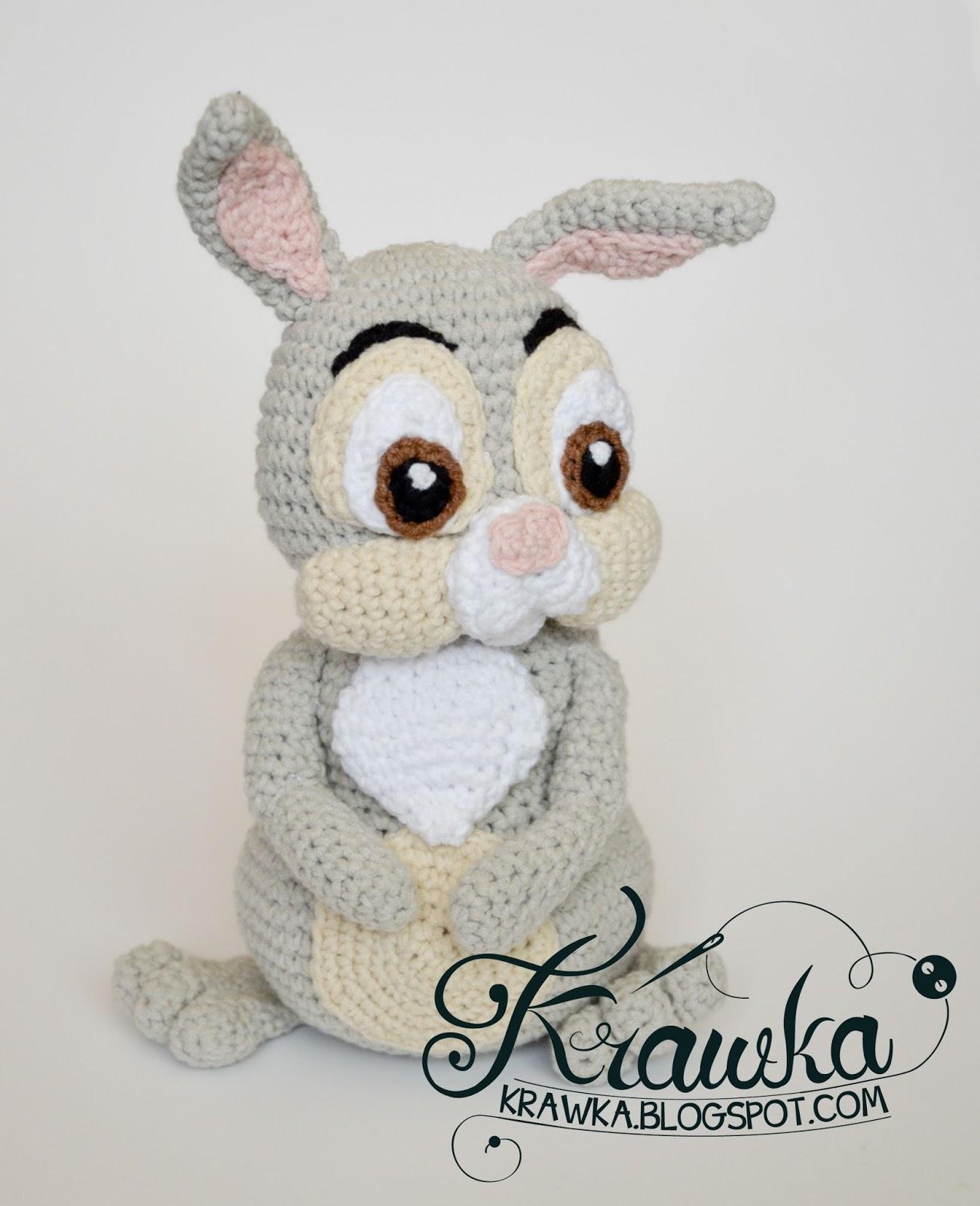 Krawka: Easter Thumper Rabbit from Bambi ETSY pattern