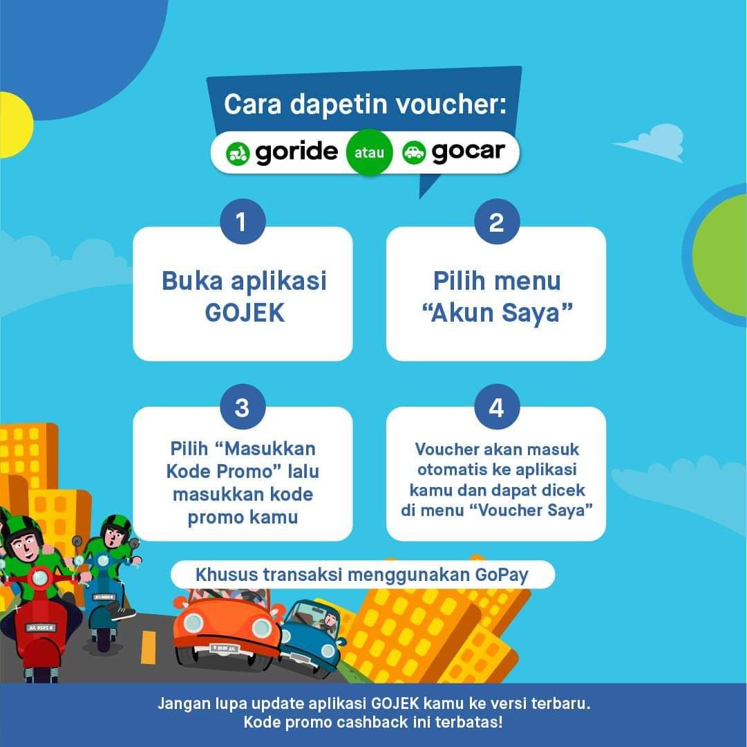 Promo Gojek Cashback Hingga 50 Naik Go Ride Dan Go Car Harga Diskon