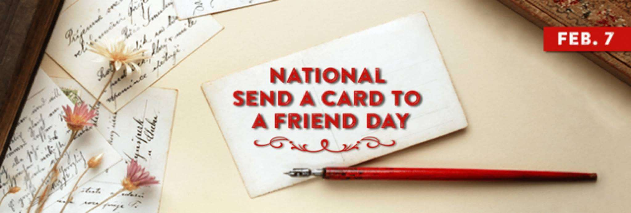 National Send a Card to a Friend Day Wishes Beautiful Image
