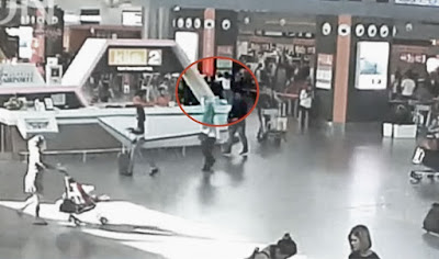 "CCTV footage from the murder of Kim Jong-nam from the documentary film ""Assassins"""
