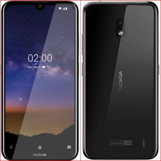 Nokia 2.2 2gb ram, 16gb internal storag front and back look