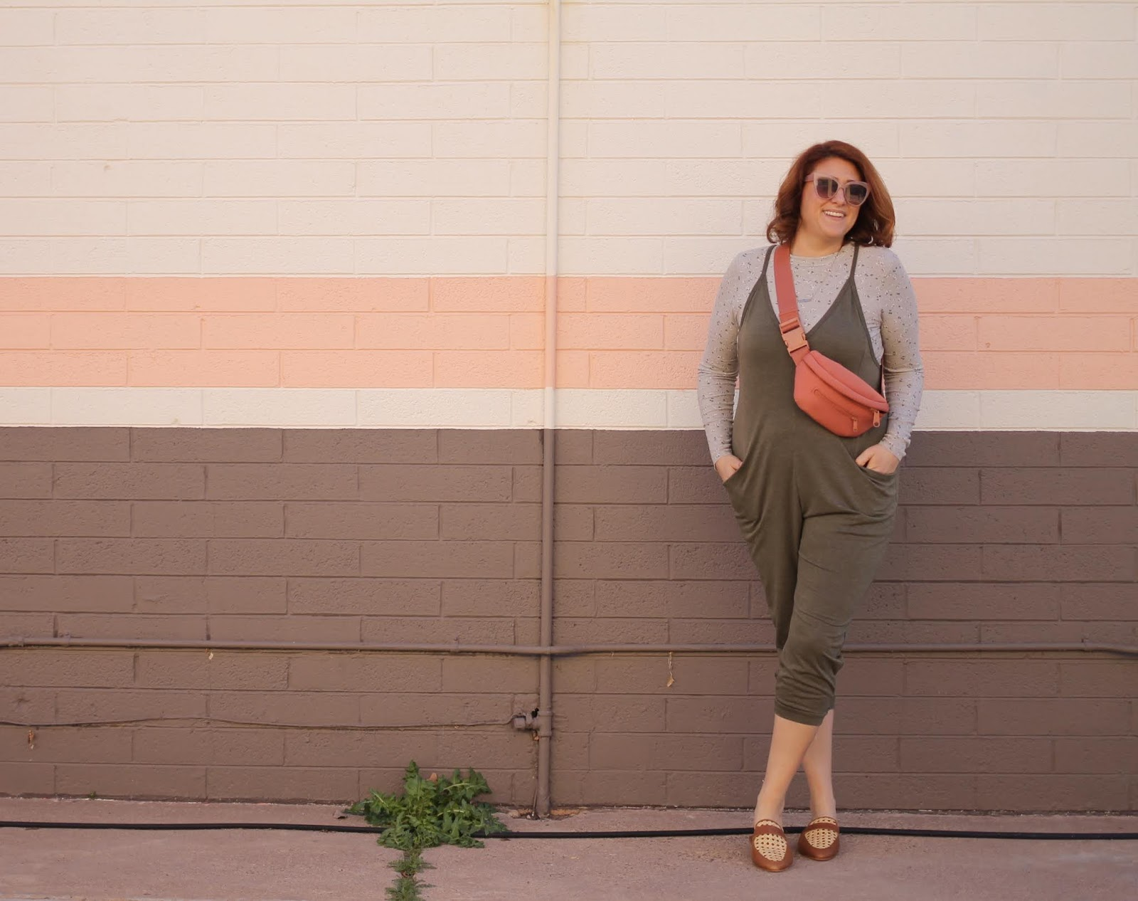 Dagne dover ace fanny pack, target, wild fable jumpsuit, redhead hair style, Dyson air wrap