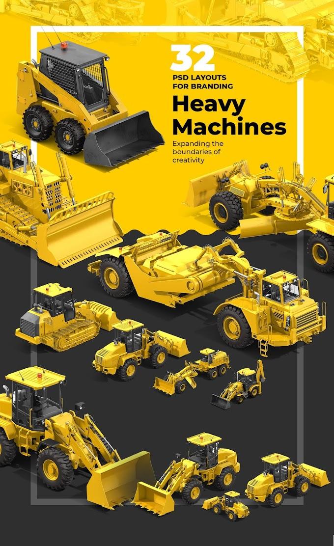 PSD Heavy Machines Mockup 360 PRO #02[Photoshop][68165]