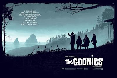 San Diego Comic-Con 2021 Exclusive The Goonies Screen Print by Matt Ferguson x Florey x Vice Press x Bottleneck Gallery