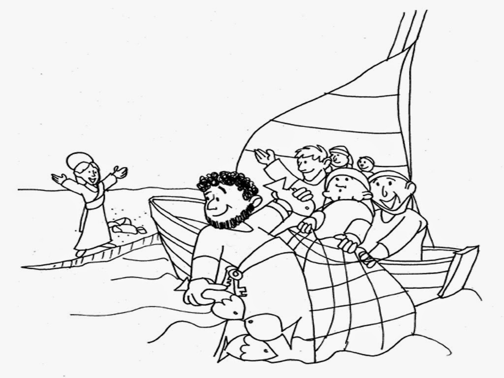 Fisherman » Coloring Pages » Surfnetkids | 768x1024