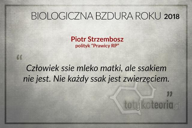 Piotr Strzembosz Biologiczna Bzdura Roku 2018