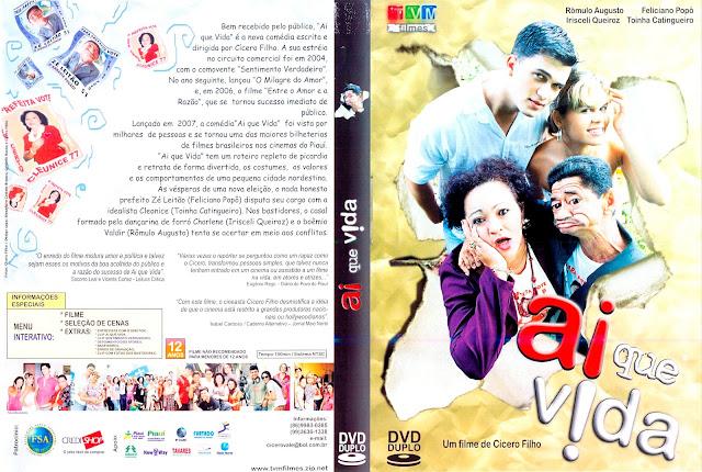 Capa DVD Ai Que Vida!