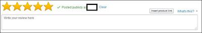 Amazon's write a customer review box
