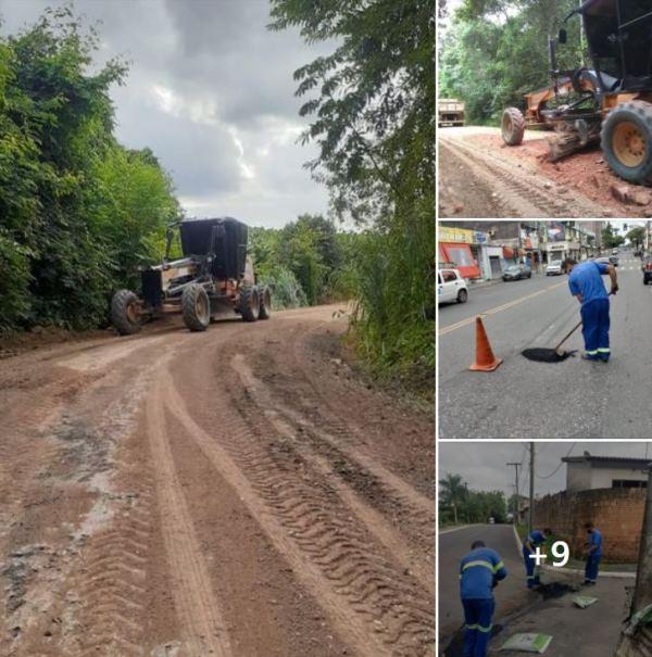 Secretaria de Municipal de Infraestrutura e Serviços Públicos segue intensamente com os trabalhos de zeladoria por Registro-SP
