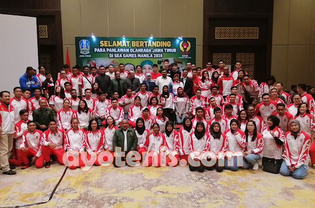 Christo dkk beserta Atlet SEA Games asal Jatim lainnya dapat suntikan motivasi Gubernur Khofifah