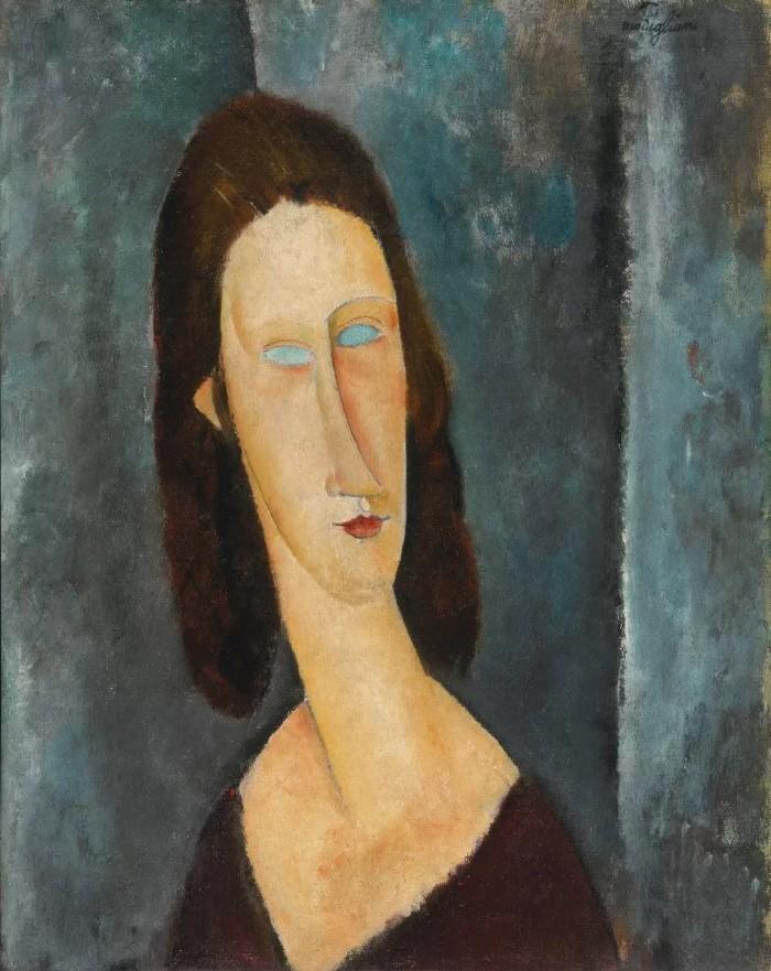 Blue Eyes (Portrait of Madame Jeanne Hebuterne)