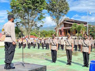 Kapolres Mamasa Pimpin Upacara Pengukuhan Dan Serah Terima Jabatan