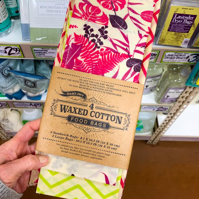 Trader Joe's Waxed Cotton Food Bags