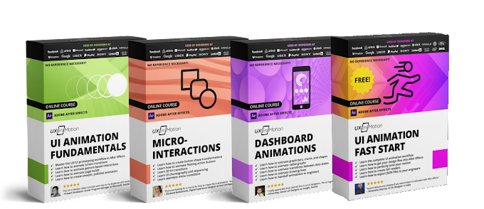 UXINMOTION - [Animation Fundamentals][Micro-interactions][Dashboard Animations][Animation With After Effects Fast Start][Bundle][Course]