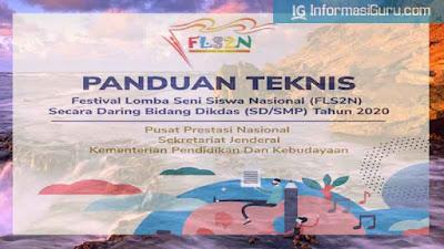 Download Panduan/Juknis FLS2N Secara Daring Bidang Dikdas (SD dan SMP) Tahun 2020