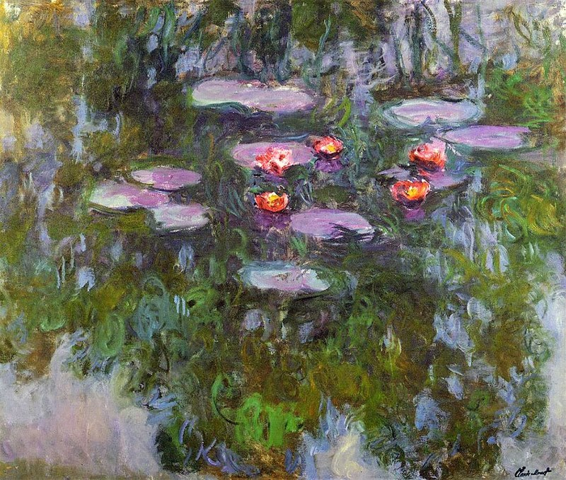 Claude Monet 1916-19 Water Lilies oil on canvas