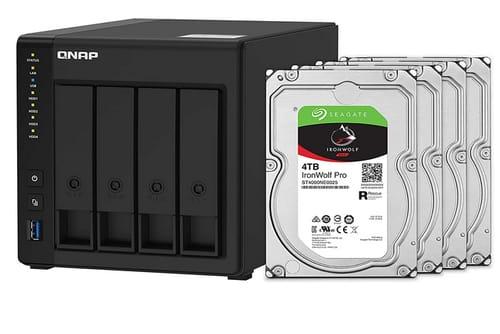 QNAP 12TB 4 Bay 4K Hardware transcoding NAS