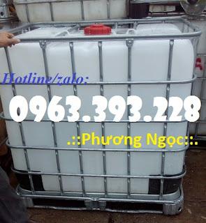 Tank nhựa IBC 1000L đã qua sử dụng, bồn nhựa đựng hóa chất 3b3409abfb50db30dad03648c814323a