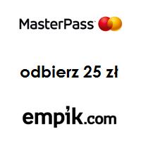 Empik.com: eKarta prezentowa 25 zł dla płacących za pomocą Masterpass