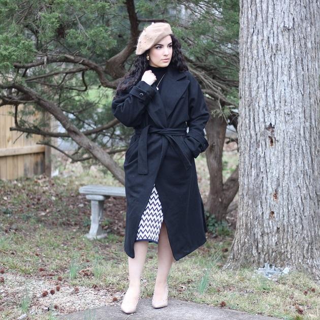 SHEIN Long Black Coat