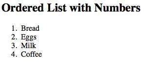 ordered list tipe angka pada laman html