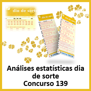 Estatísticas dia de sorte 139 análises das dezenas