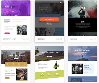 Duda - trình tạo website giao diện đẹp