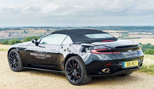 2018 New Aston Martin DB11 Volante with 600-horsepower
