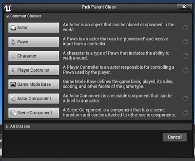 Selecting Blueprint Class