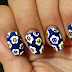 Tutorial 5: Blue Pajama Print Nails