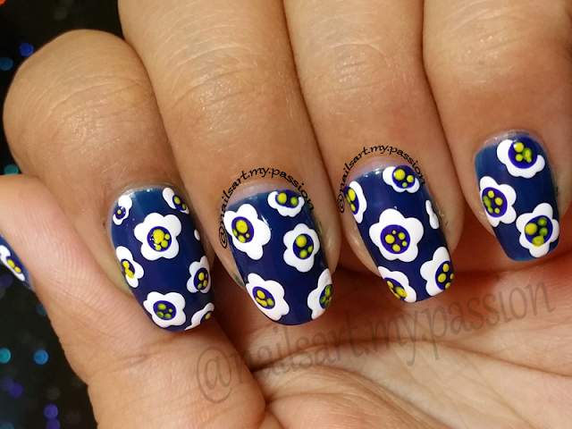 Tutorial 5: Blue Pajama Print Nails
