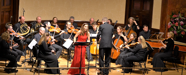 Chiara Skerath with Ian Page and the Mozartists at the Wigmore Hall in 2018