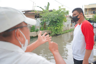 Bobby Nasution Perintahkan Dinas Pu Kota Medan Segera Perbaiki Drainase Jalan Ampera, Tembung