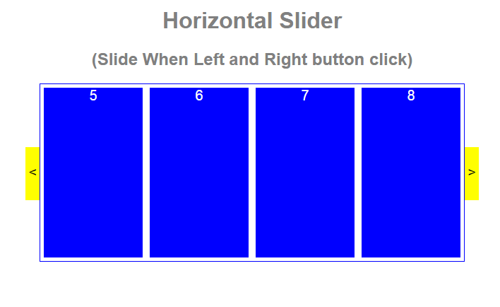ASP NET CLOUD: Horizontal Div Slider Jquery Demo