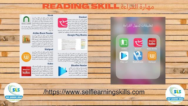 تطبيقات لتنمية مهارة القراءة