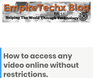 How to access any video online without restrictions.