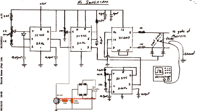 modified sine wave inverter with output filter circuit