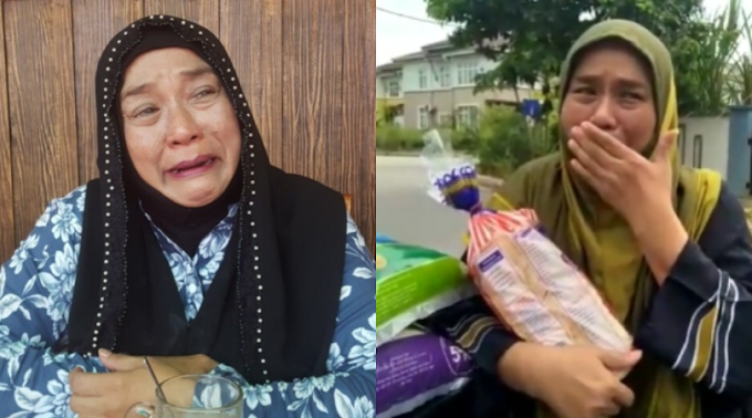 Wan Maimunah Tak Dapat Tahan Air Mata Terima Bantuan Dari Ustaz