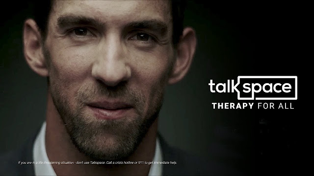 mobile, mobile app, online therapy platform, Talkspace, text therapy app,  Michael Phelps, abuse disorder, depression, ADHD, mental health, alcoholism, health,