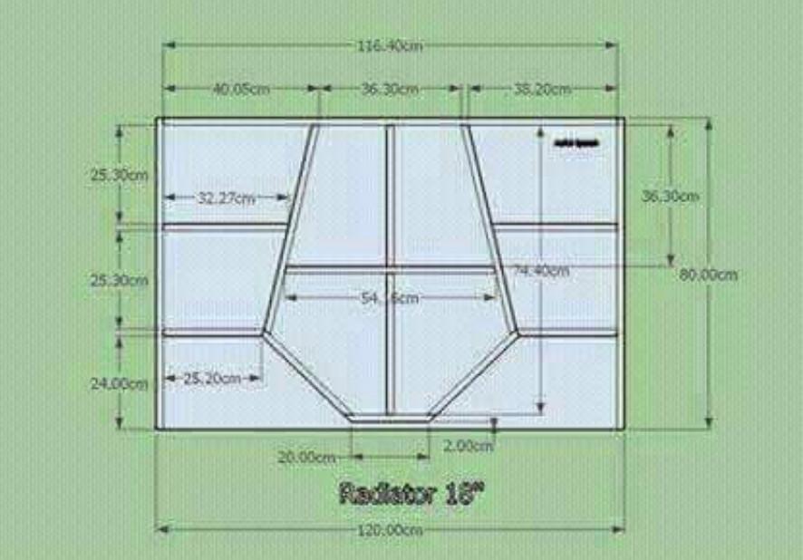 Skema Box Radiator 18 Inch