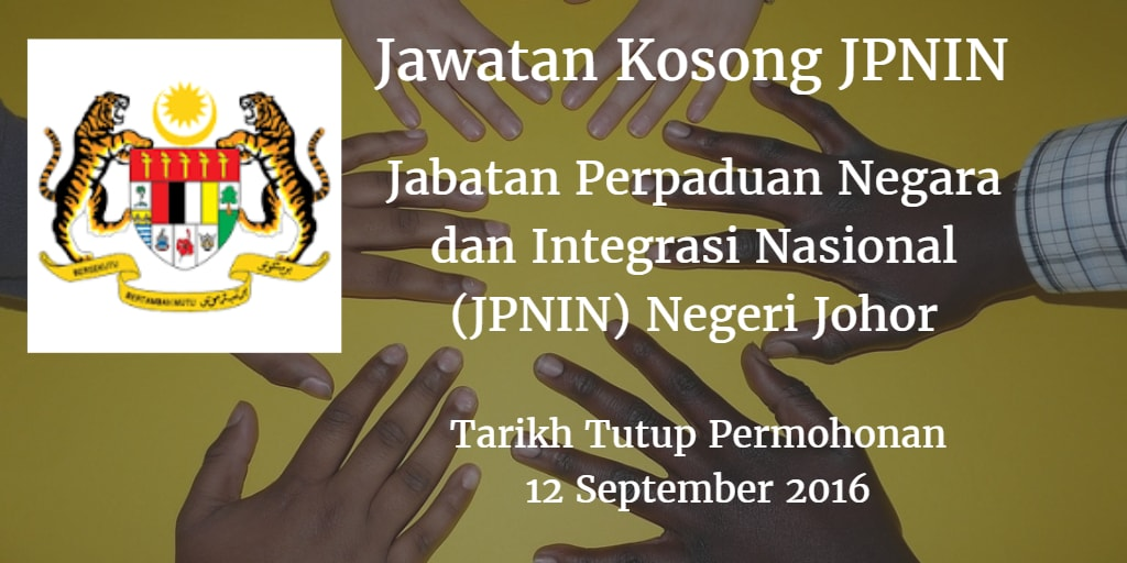 Jawatan Kosong JPNIN 12 September 2016