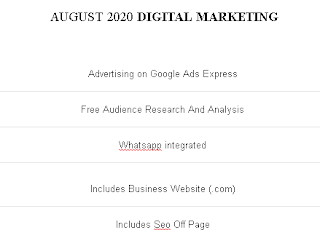 DIGITAL MARKETING - AUGUST 2020