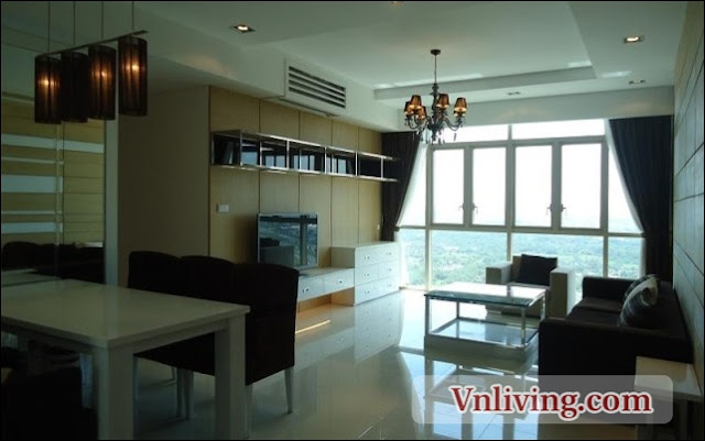 The Vista apartment for rent 3 bedroom river view Tower 4 high floor