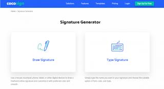 Signature Generator Cocosign